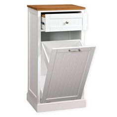Cat Litter Box Ideas Hidden Discover SpaceMaster SpaceMaster White Microwave Kitchen Cart with Hideaway Trash Can Holder - The Home Depot Microwave Stand, Microwave Cart, Compact Microwave, Design Furniture, Kitchen Furniture, Hide Trash Cans, Trash Bag, Small Entryways, Home Deco