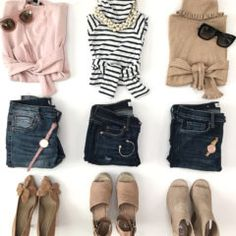 Spring outfit ideas flatlay