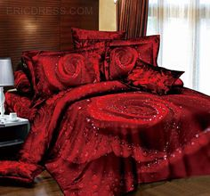 Bedding Sets Look Amazingly Real! The latest trend to hit the bedding market is the amazingly beautiful Bedding Sets. I must admit that I find some Luxury Comforter Sets Queen, Bedding Sets Uk, Cheap Bedding Sets, Bedding Sets Online, Luxury Bedding, Red Bedding, Bed Sets, Bed Sheet Sets, Leopard Bedding