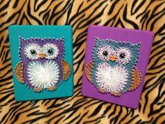 inserzione di Etsy su https://www.etsy.com/it/listing/167321533/custom-owl-string-art