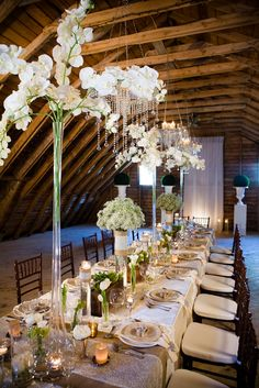 Rustic glam wedding in a barn. Gorgeous and rife with details!
