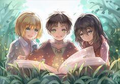 Shingeki no kyojin Armin, Eren Aot, Eren And Mikasa, Attack On Titan Eren, Manga Anime, Film Anime, Fanarts Anime, Anime Characters, Anime Art