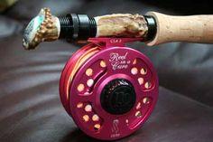 Custom fly rod & reel for breast cancer.. Awsome