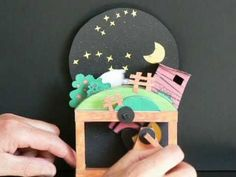 "Papiermodell ""Süße Träume"" Paper automaton - YouTube"