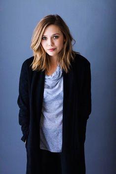 I love Elizabeth Olsen's hair. :)
