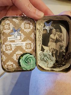 Hey, I found this really awesome Etsy listing at https://www.etsy.com/listing/458732824/altered-altoid-tin-upcycled-mixed-media