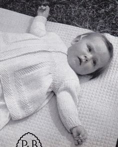 Vintage Knitting Pattern Instructions for a Babies First 6 Month Matinee Coat