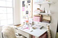 girly desk space!