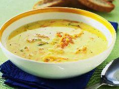 En god och mycket enkel soppa som, dessutom är billig. Den görs helt klar på bara 10 minuter. Passar att servera till lunch eller middag, gärna med plättar efteråt. Veggie Recipes, Baby Food Recipes, Soup Recipes, Snack Recipes, Snacks, Vegetarian Meal Prep, Vegetarian Recipes, Lchf, Swedish Recipes