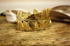 ATHENA III Grecian Laurel Leaf Wrap Bracelet