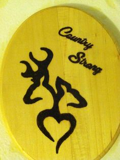 Wood Burned Browning Deer Sign. $20.00, via Etsy.