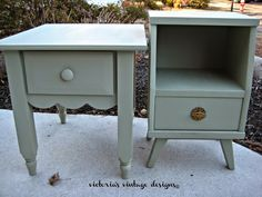 Victoria's Vintage Designs: Beach House Night Stands {E's Room}