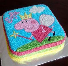 Peppa Pig Birthday Cake, Birthday Cake Girls, 3rd Birthday, Pig Cupcakes, Pastel Cupcakes, Peppa Pig Y George, Cake Designs For Girl, Aniversario Peppa Pig, Birthday Themes For Boys