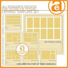 The Story Of Today + Bread and Butter Set - Digital Scrapbooking Templates
