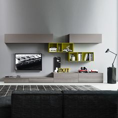 TV-unit compozition-10 by Siluetto. #livingroomfurniture #homeinterior #Italiandesign #contemporaryfurniture