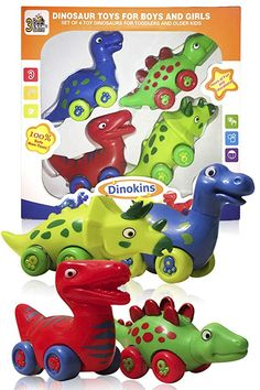 3 Bees & Me Dinosaur Toys for Boys and Girls - Set of 4 Toy Dinosaurs for Kids: Toys & Games Dinosaur Toys For Boys, How To Make Toys, Popular Toys, Best Kids Toys, Gifted Kids, Bath Toys, Toddler Toys, Toddler Playroom, Toddler Gifts