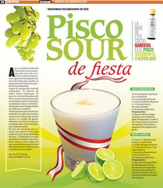 Pisco Sour, Trome 2013