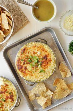 Easy Green Chicken Enchilada Dip
