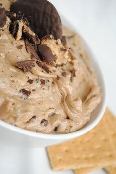Tagalong Dip~ A Cookie dip made after the famous Girl Scout Cookie! Serve with graham crackers or sticks.