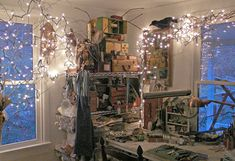 Nina Bagley's studio. I think I've become a Nina Bagley stalker. Check out some of her art jewelry pieces. Amazing.