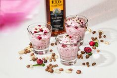 Healthy wholegrain rice pudding with raspberry and pineapple #Linkosuo