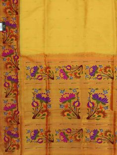 Paithani saree lotus border