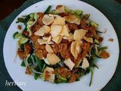 Lotek Asian Recipes, Healthy Recipes, Ethnic Recipes, Healthy Food, Gado Gado, Indonesian Food, Vegetable Dishes, Cobb Salad, Potato Salad