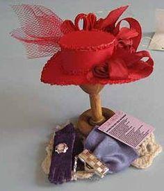 Red Hat Set  dollhouse miniature 112 scale by petalsandbrims, $24.00