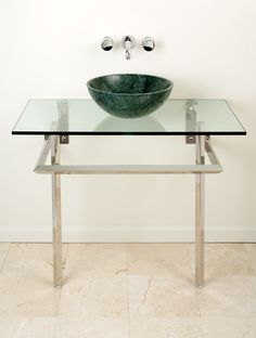 Stainless Vanity by Stone Forest