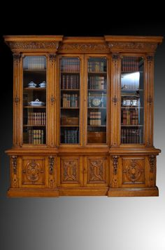 Antique Victorian Bookcase | Antique Victorian Oak Bookcase..... THIS IS WHAT I WANT... beautiful!