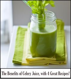 WHO KNEW???  The Benefits of Celery Juice, with 4 Great Recipes!  http://positivemed.com/2013/07/12/the-benefits-of-celery-juice-with-4-great-recipes/