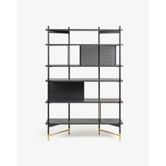 NORFORT Bookshelf 120x177cm, metal, ash veneer ash