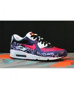 Nike Air Max 90 Sweet Purple Red Custom Custom Sneakers, Custom Shoes, Air Max 97, Nike Air Max, Adidas Superstar Vintage, Ar Max, Air Max Sneakers, Sneakers Nike, Kicks