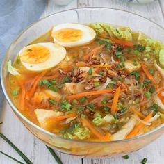Try this Chicken Sotanghon Soup. A tasty and immune-boosting Filipino chicken soup with slippy cellophane noodles.