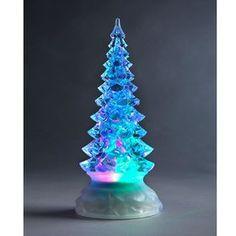 21cm Swirling Glitter Light-Up Christmas Tree