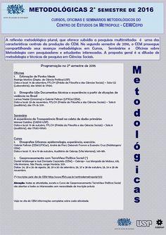 Metodológicas CEM 2o semestre de 2016 - programação completa :: Centro de…