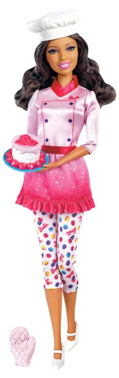Amazon.com : Barbie I Can Be Sweets Chef African-American Doll : Fashion Dolls : Toys & Games