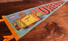 Oregon Pennant . The Beaver State . Souvenir Pennant . State Pennant . Vintage . 1980s 80s