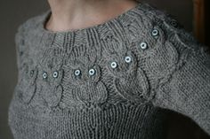 owl pattern sweater.