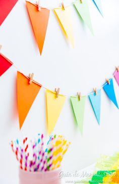 Obst How To Create Creative Saint John Flags Rainbow Birthday Party, Birthday Diy, Birthday Parties, Rainbow Party Decorations, Diy Birthday Decorations, Happy B Day, Art Party, Party Time, First Birthdays