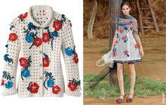 Rhyca Acessórios Coleção Chanel Crochê Crochet Jacket, Crochet Cardigan, Crochet Girls, Crochet Top, Dolce & Gabbana, Knit Fashion, Womens Fashion, Chanel, Dress Patterns