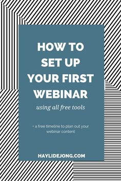 DO you want to do a webinar to build your audience, grow your list and promote your product...but have no clue how to set it up without expensive programs? I have a free tutorial for you to show you how to do it all for free.