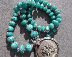 EdelEdelsteinSchmuck auf Etsy Turquoise Bracelet, Vintage, Bracelets, Etsy, Jewelry, Fashion, Fashion Styles, Gems Jewelry, Rhinestones
