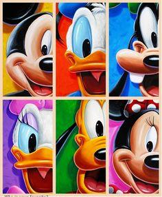Mickey, Donald Duck, Goofy, Daisy Duck, Pluto and Minnie :)