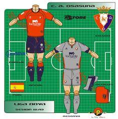 CA Osasuna of Spain kits for Ca Osasuna, Spain, Family Guy, Football, Logo, Shirt, Fictional Characters, Soccer, Futbol