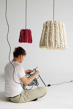 Interior Inspirations   So creative!! BIG needles...this would take no time at all.