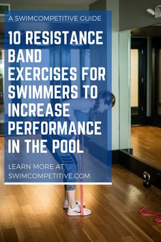 Cross training is an important part of being the best swimmer you can be. Resistance bands are an easy and effective way for swimmers to get in some added strength training, whether it be at home or next to the pool. In this article, we cover 10 of the best resistance band exercises swimmers can do to imporve strength and performance in the water. Swim Workouts, Best Core Workouts, Lap Swimming, Swimming Tips, Best Resistance Bands, Resistance Band Exercises, Cross Training, Strength Training, Muscles In Your Back