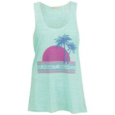 Brave Soul Women's Beach Vest ($6.26) ❤ liked on Polyvore featuring tops, tank tops, shirts, tanks, green, green top, racer back tank, racerback tank tops, green vest and beach shirts