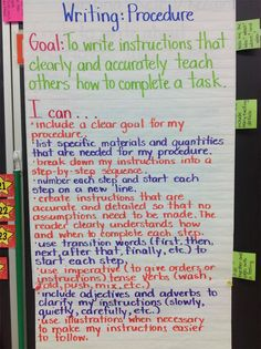 Success Criteria for Procedural Writing Procedural Writing, Paragraph Writing, Narrative Writing, Writing Workshop, Writing Genres, Writing Lesson Plans, Writing Lessons, Teaching Writing, Reading Lessons