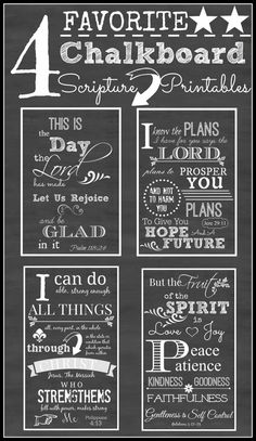 4 FAVORITE CHALKBOARD SCRIPTURE PRINTABLES-ready to be framed-stonegableblog.com